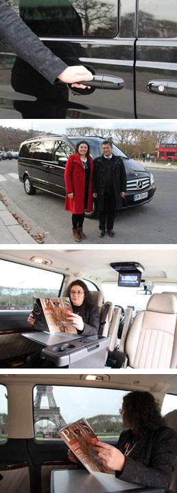 Navparis-Acolho e acomponhamento pelo seu motorista em Paris e França